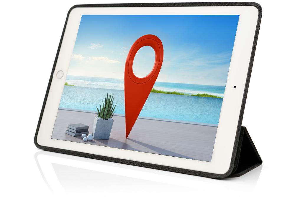 EINSATZ_SEO_Hotel_Optimierung_Tablet mit Hintergrundbild