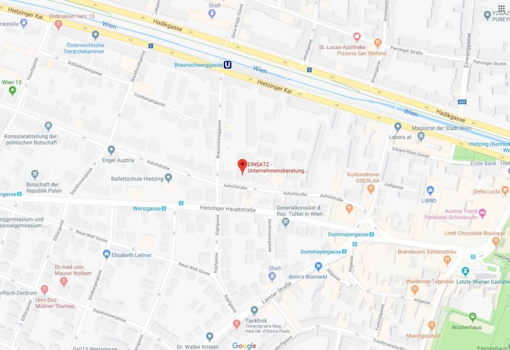 google_maps_Einsatz Agentur Wien_Ansicht_Standort